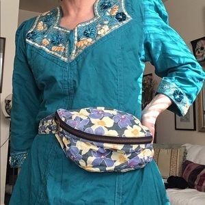 RARE '90s floral print cotton fanny pack, bum bag